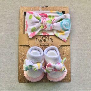 Baby Headband & Booties Set